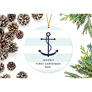 51MkHY0E6nL._SS300_ 75+ Anchor Christmas Ornaments