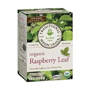 Traditional Medicinals Organic Herbal Teas, Raspberry Leaf, 16 Wrapped Tea Bags, 0.85 oz