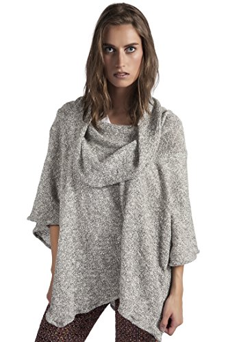HOODIE PONCH Heidi Hess Designer Poncho Sweater Converts Into Scarf, Hoodie or Top - Soft Gray, One Size by HOODIE PONCH