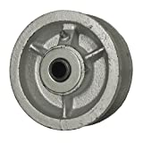"""4"""" x 1-1/2"""" V Groove Wheel for Casters or Equipment 1/2"""" ID Roller Bearing Service Caster Brand"""