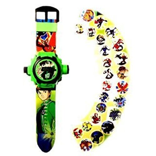 Ben 10 24 different Cartoon images Projector Watch Kids Digital Wrist Watch cartoon character watch