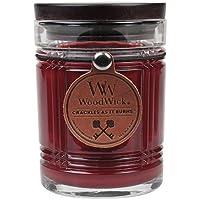 Woodwick 78564 L'Acajou Reserve Bougie Verre Rouge 9,5 x 8 x 11,6 cm