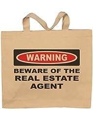 Beware Of The Real Estate Agent Totebag Bag