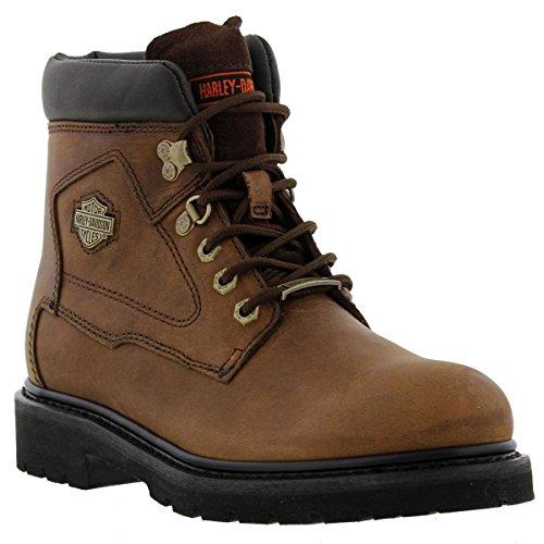 Harley Davidson Womens Bayport Brown Leather Boots 9 US
