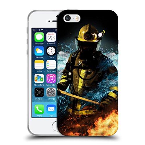 Officiel Jason Bullard Pompier 1 Pompier Étui Coque en Gel molle pour Apple iPhone 5 / 5s / SE