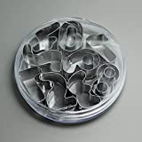 SDFC 9PCS 0~8 Arabic numerals Cake Biscuit Pastry Cookie Cutter Mold Mould Decor 11-186
