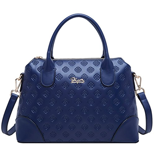 Women Handle Ladies Bag Blue Top Royal Bags Leather Satchel for BOYATU Handbag Shoulder qtWCxfnwTA