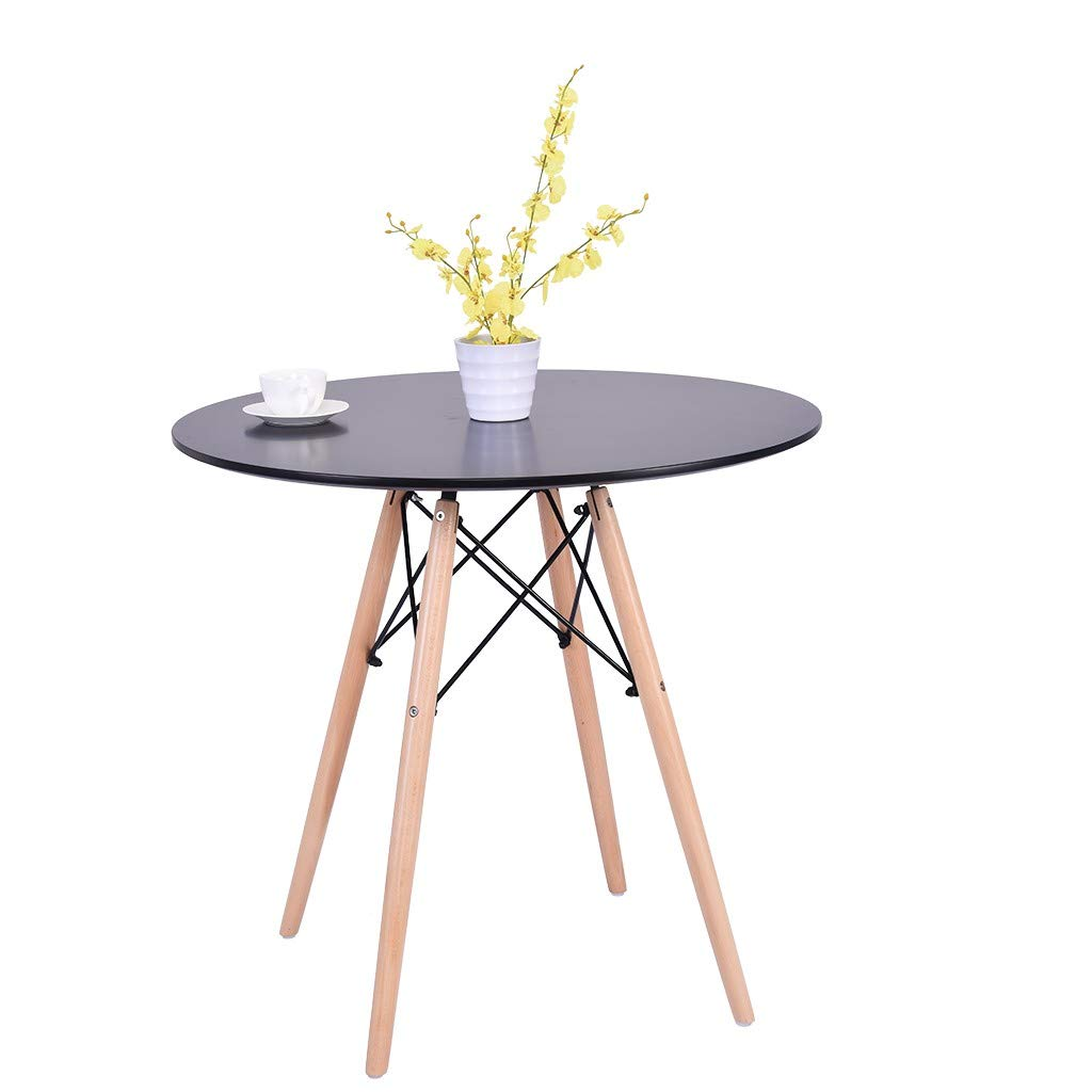 Cloudro Coffee Desk, Kitchen Wooden Dining Table Round Coffee Table Leisure Conference Pedestal Desk by Cloudro