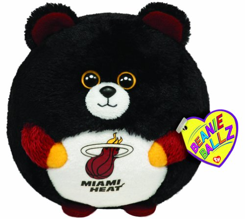 Ty Beanie Ballz Miami Heat - NBA Ballz (Heart Heat Miami)