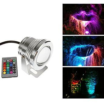 Mini 12V Underwater RGB LED 10W IR-Fernbedienung IP68 Wasserdichte ...
