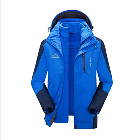 b41cc321ad3c4 3 in 1 Gefüttert Outdoorjacke für Herren Damen Regenjacke Jacke mit Kaupzen Doppeljacke  Herren Funktionsjacke Hardshelljacke
