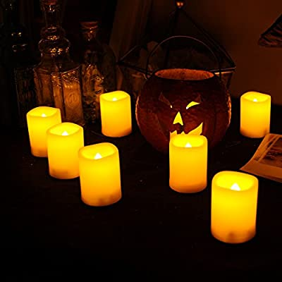 12 PCS Premium Flameless Candles, LED Flameless Votives, Battery Powered, Battery-operated Votives, Long Battery Life, 120+ Hours Battery Life, Batteries Included
