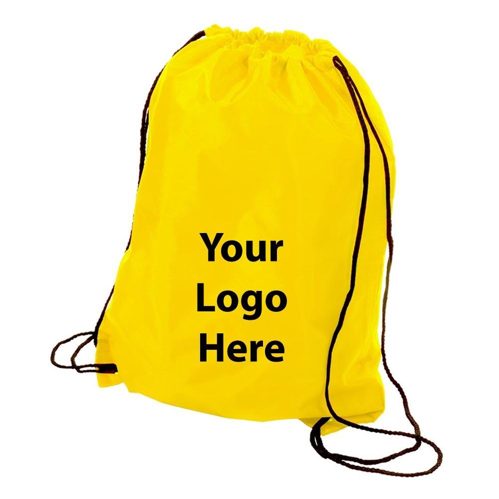 文字列をスリングバックパック – 100数量 – $ 1.85各 – プロモーション製品/バルク/ブランドロゴ/でカスタマイズされた B01BHSXNP2  イエロー