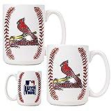 MLB St. Louis Cardinals Two Piece Ceramic Gameball Mug Set - Primary Logo