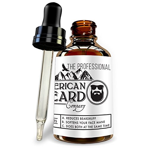 Professional Beard Oil for Men, Leave in Conditioner and Softener, Organic and Helps with Beard Growth and Thickening, Dandruff and Itch Reducer, Made In The USA, Comes with Dropper