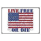 CafePress LIVE FREE OR DIE - Vinyl Banner, 44''x30'' Hanging Sign, Indoor/Outdoor