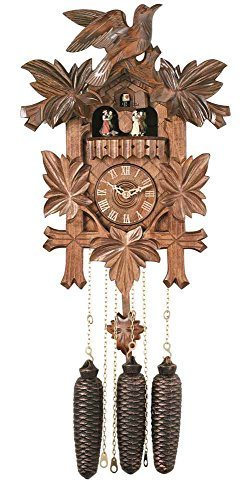 River City Clocks MD841-16 Eight Day Musical Cuckoo Clock with Dancers, Five Hand-Carved Birds And Maple Leaves, 16-Inch Tall by River City - Cuckoos Day Musical Clocks Eight