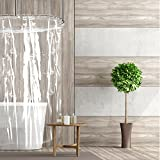 Shower Curtain Lengths Short Cut New Shower Liner with Magnets | Shorter Length Stays Clean Longer | 66