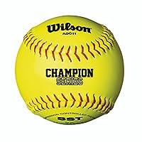 "Wilson High School y Adult Fast Pitch 12 ""Balls, Polycore, amarillo óptico (1 docena)"