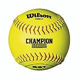 Wilson Unisex A9011 Nfsha Softball, Yellow, Size 12