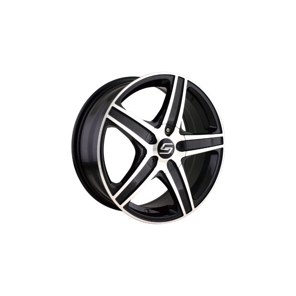 Sacchi S48 Black Wheel with Machined Face/Lip (16x7/4x98mm)