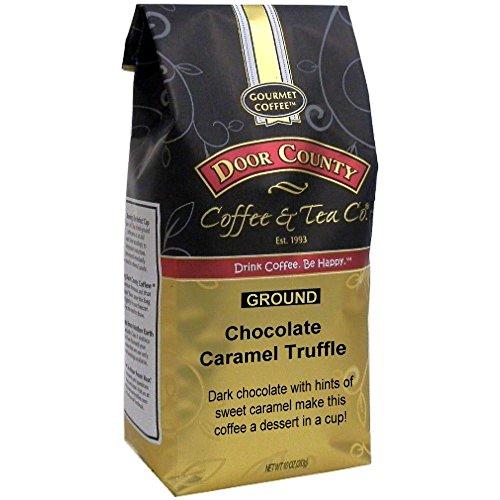 Door County Coffee, Chocolate Caramel Truffle, Ground, 10oz Bag