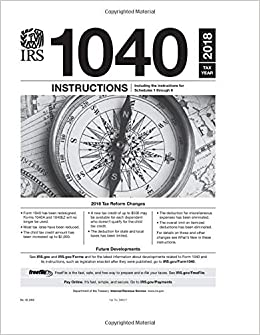 1040 Instructions Tax Year 2018 Us Internal Revenue Service Irs
