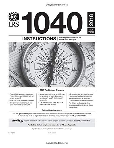 1040 Instructions Tax Year 2018 Us Internal Revenue Service Irs