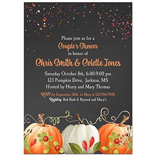 - Halloween Party Invitation - Elegant Pumpkin Collection - Birthday, Rehearsal Dinner, Shower
