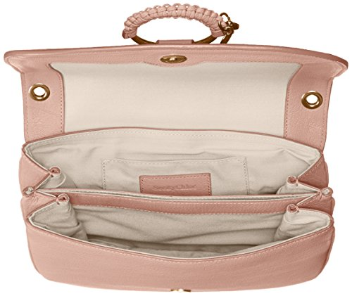 Hana Chloe Nude Medium Crossbody Goatskin Women��s By Leather See qHp5tax