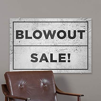 5-Pack Blowout Sale 18x12 Basic Gray Premium Acrylic Sign CGSignLab
