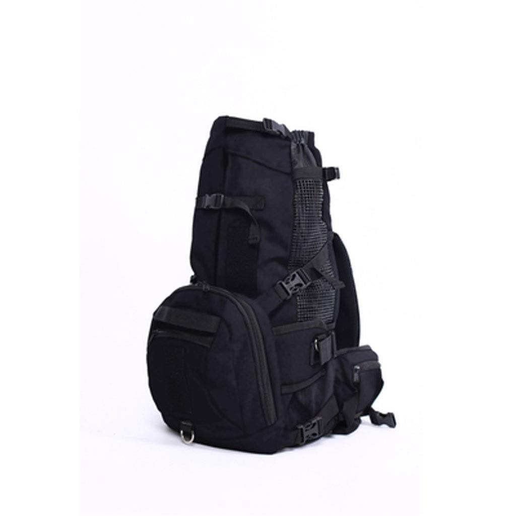 Black LZRZBH Pet Bag, Portable Pet Travel Breathable Backpack, A Pack of Dual-use Dog Backpack Pet Bag Waterproof Bag (color   Black)