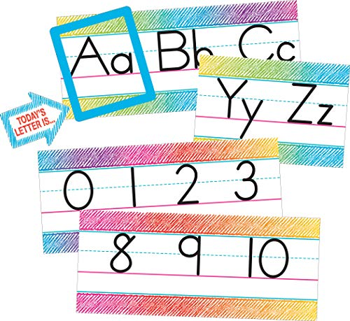 - Teacher Created Resources Colorful Scribble Alphabet Line Bulletin Board
