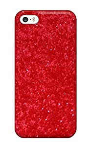 Special DanielFletcher Skin Case Cover For Iphone 5/5s, Popular Glittery Solid Red Phone Case