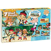 Jake And The Neverland Pirates 7 Wood Puzzles In Wooden Storage Box (styles will vary)