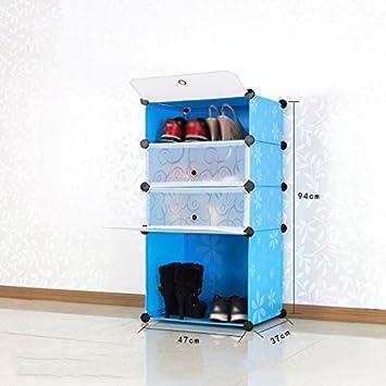 ZHDC® Kreative einfachen 4-Schicht Kunststoff Lagerschränke ...