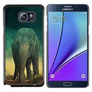 EJOOY---Cubierta de la caja de protección para la piel dura ** Samsung Galaxy Note 5 5th N9200 ** --Elefante trullo Tronco retro lindo