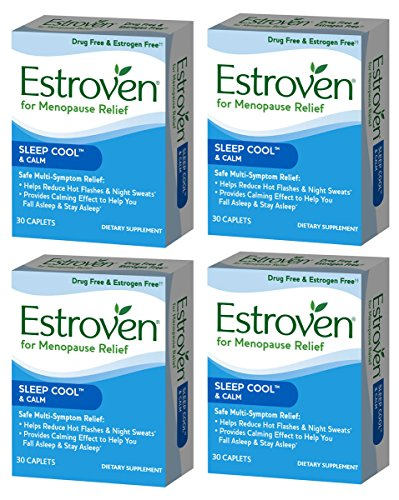 Estroven SLEEP COOL + CALM formulated for Menopause Symptom Relief - Helps Reduce Hot Flashes and Night Sweats - Provides Calming Effect to Help You Fall Sleep and Stay Asleep, 4 Pack