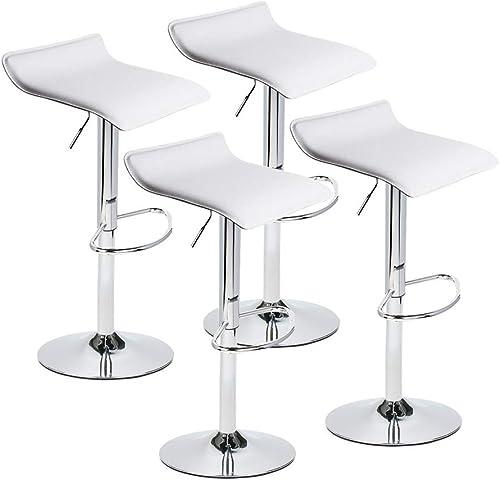 Set of 4 Adjustable Swivel Barstool