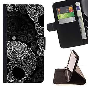 FLORAL PATTERN DEATH SKULL INDIAN DEEP/ Personalizada del estilo del dise???¡Ào de la PU Caso de encargo del cuero del tir????n del soporte d - Cao - For LG Nexus 5 D820 D821
