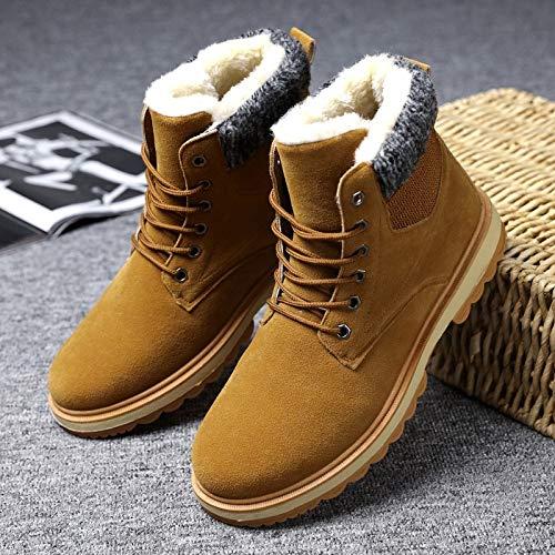 LOVDRAM Stiefel Männer Winter Baumwolle Herren Dicke Herren Schneeschuhe Herrenschuhe In Der Hohe Verdickung Warme Martin Stiefel Baumwolle Kurze Stiefel