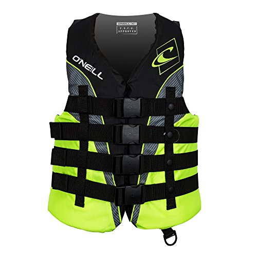 ONeill  Mens Superlite USCG Life Vest,Black/Lime/Smoke/Lime,Large