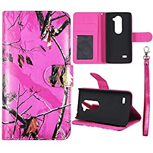 Wallet Camo Pink Mozi For LG Power L22C Flip ID Slot Pouch HD Premium Printed PU Leather Wallet Phone Case with Magnetic Closure Snap-on Protector Shell Case Cover Cover