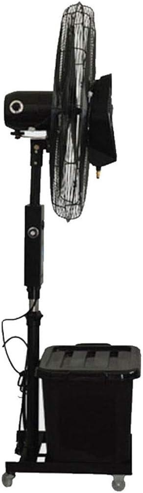 フロアファン スタンドファン 垂直タワーファン商業ペデスタル振動スプレーミスト加湿器冷却静かなファン工業用噴霧回転モバイル - 42L水タンク ハイパワー 屋外の