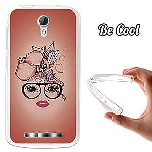 BeCool® - Funda Gel Flexible Doogee Valencia 2 Y100 - Y100 Pro BeCool Corte de Pelo Abstracto Carcasa Case Silicona TPU Suave