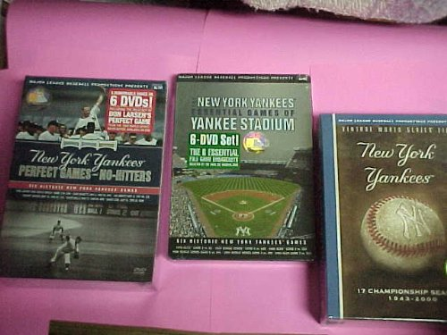 Complete New York Yankees Box Set Collection : Vintage World Series Films , Essential Games of Yankee Stadium , Perfect Games & No Hitters : 3 Box Set Collection : 18 Discs -