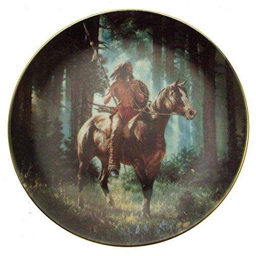 c1992 Hamilton Collection Sun Seeker Mystic Warriors Chuck Ren Native American collector plate CP1940