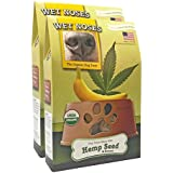 Wet Noses All Natural Dog Treats, Made in USA, 100% USDA Certified Organic, Non-GMO Project Verified (Hemp Seed & Banana, 2-Pack)
