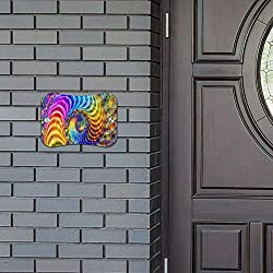 Door Sign Fractal Art and Spirals Fabulous Hanging Wall Art Primitive for Dog