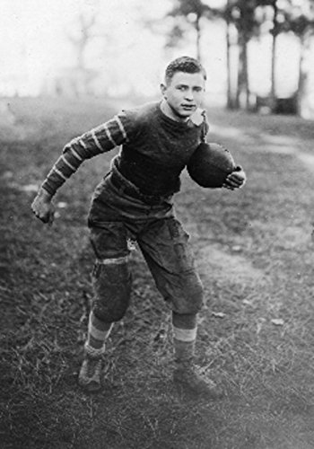 College Football Player in full gear Photograph (24x36 Giclee Gallery Print, Wall Decor Travel Poster)